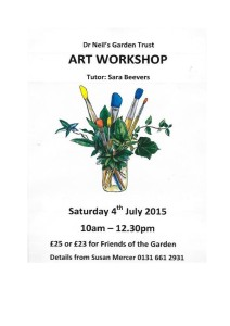 Poster for Sara Beavers Art Workshop