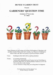 Gardeners Question Time May 2016